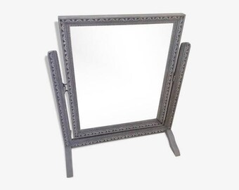 Psyche mirror antique shabby chic french