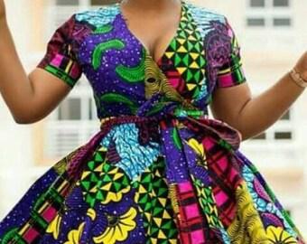 CUSTOMISED Kitenge Patchwork Dress