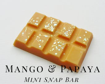 Soy Wax Melts, Mango & Papaya, Scented Wax Tart, Soy Wax, Snap Bar, Fruity, Tropical