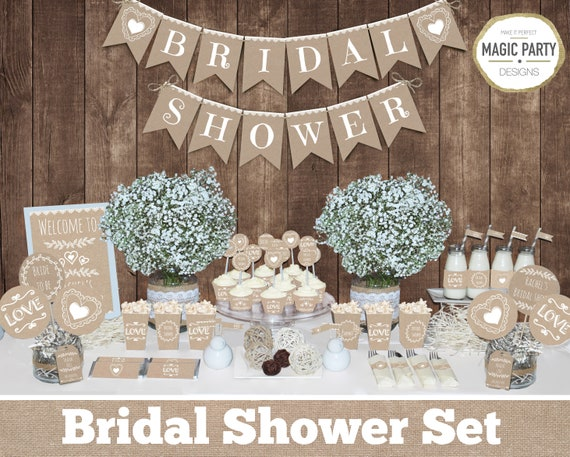 Rustic bridal shower decorations Bachelorette party