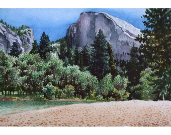 Yosemite - Note Card - Giclee - Half Dome
