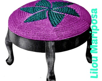Crochet Stool Cover Pattern Vintage 30s Crochet Vintage Pattern crochet cushion cover pattern