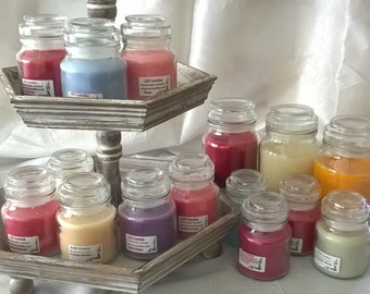 Round Jars with Glass Lid -  Hand Poured Scented Candles