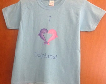 I Heart Dolphin Girls Shirt