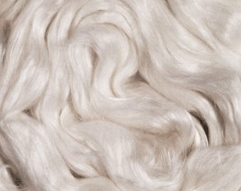 RawCo. 50/50 Merino Cultivated Silk Blend Luxurious Combed Top Roving