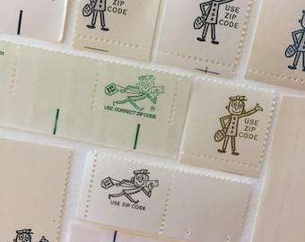 Zippy collection - 10 US postage stamps unused - vintage postal zip code ephemera mail art