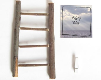 2018 Calendar with handmade Ladder stand, cute mini desk calendar, Handwritten quote on Sky and Cloud photography in sunny and cloudy day