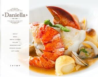 wordpress website web design for food & restaurant website small business website premade website wordpress website template