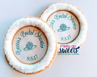 Personalized Bridal Shower Cookie // Edible Print Cookie // Bridal Shower Cookie // Customized Cookie // Bridal Shower Favors // Cookies