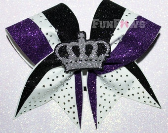 Gorgeous 3-D Crown  rhinestone cheer bow by FunBows ! - Customize This !