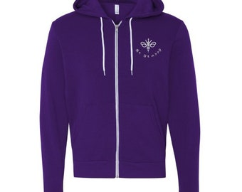 Be Glassy Royal Purple Hoodie