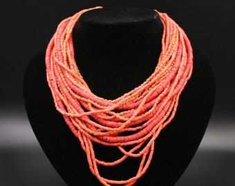 Coral necklace,  coral, pink coral, coral jewelry, woman gift, vintage jewelry , Vintage Accessory