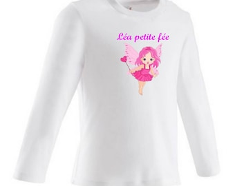 Little fairy baby personalized with name t-shirt