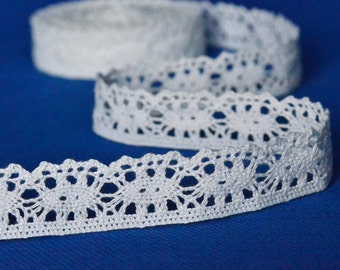19 Yards of White Cluny Lace Trim 1 Inch Wide