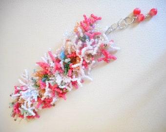 """Seed Bead Bracelet """"reef"""", multicolor, pearl bracelet"""