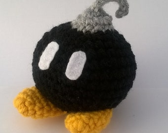Crochet Super Mario Bob-omb plush toy