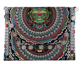 embroidery clutch, ipad case,