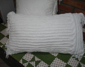 Memory Pillows from Vintage Fabric, MadeTo Order From Your Chenille Bedspreads, Quilts ,Tablecloths ,Drapes, Gifts for Friends and Family