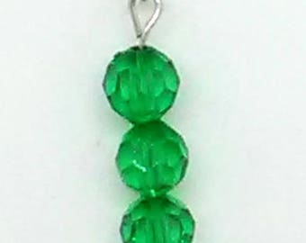 Emerald Green Beaded Pendant Necklace