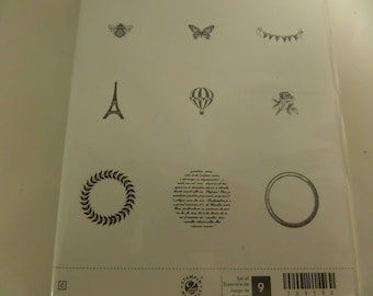 Stampin'UP! Collage Curios Set of nine rubber Stamps!