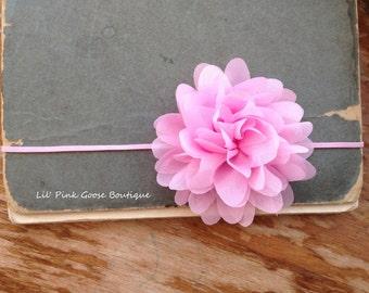 SKINNY PINK PETAL Flower Headband, Newborn Headband, Pink Headbands, Pink Headbands, Newborn Baby, Baby Headbands, Infant Headbands