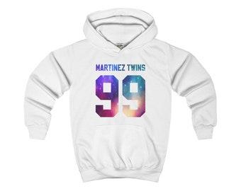 Kids Martinez Twins Galaxy Logo Hoodie Ivan And Emilio Martinez Martinez Twins Merch Kids Unisex Hooded Sweatshirt