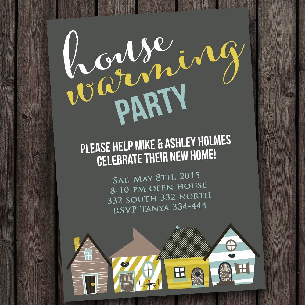 Famous House Warming Invitation Template Photos - Entry Level ...