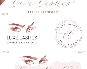Lash logo, beauty logo, Eyelash logo, Eyelashes logo, makeup logo design, Custom Logo design,  Makeup artist logo, Lash extension logo, 245