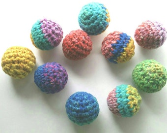 Cat and Ferret Toys, Crinkle Ball Toy, Rainbow Colors, Gift for Cats and Ferrets