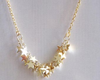 small stars necklace gold