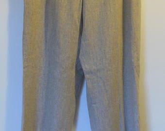 Beautiful Vintage Ralph Lauren Straight Leg Trousers Beige Wool Fully Lined Size 6