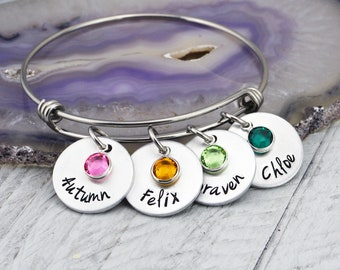 Birthstone Bracelet for Women - Mothers Day Gift for Mom - Mom Bracelet - Mothers Day Bracelet for Mom - Personalized Bracelet for Grandma