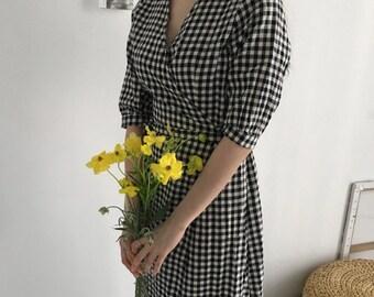 summer wrap dress - Kimono dress - summer wrap dress - romantic wrap dress - Yellow cotton dress - long wrap dress - lone sleeve dress
