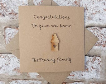 Personalised new home card handmade housewarming card card for new home 1st home