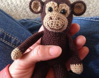 Mini Chango Monkey Crochet Pattern