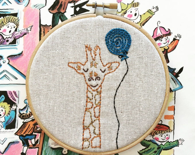 hand embroidery kit | hand embroidery | modern embroidery kit | DIY embroidery kit | jarrod giraffe