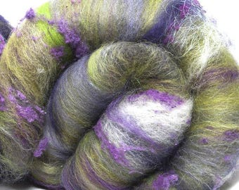 Carded batts, Nuno, hand carded, Falkland, Falklands, Merino, BFL, Angelina, silk noil, Handspinning, felting projects, Nuno, spindling