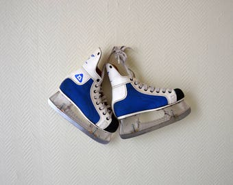Vintage Ice Skates DAOUST JET made in Canada  / Ice Hockey / size US 3.5