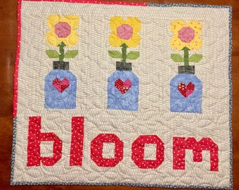 Bloom Quilted Wall-Hanging/ table topper