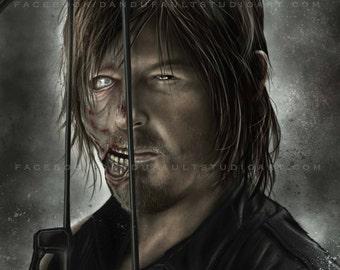 "Daryl Dixon, The Walking Dead, 'Not Dead Yet' Spotlight Series 11x17"" Artist Signed Print"