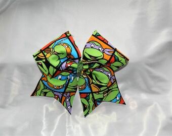 TMNT Teenage Mutant Ninja Turtles Cheer Bow Hair Bow