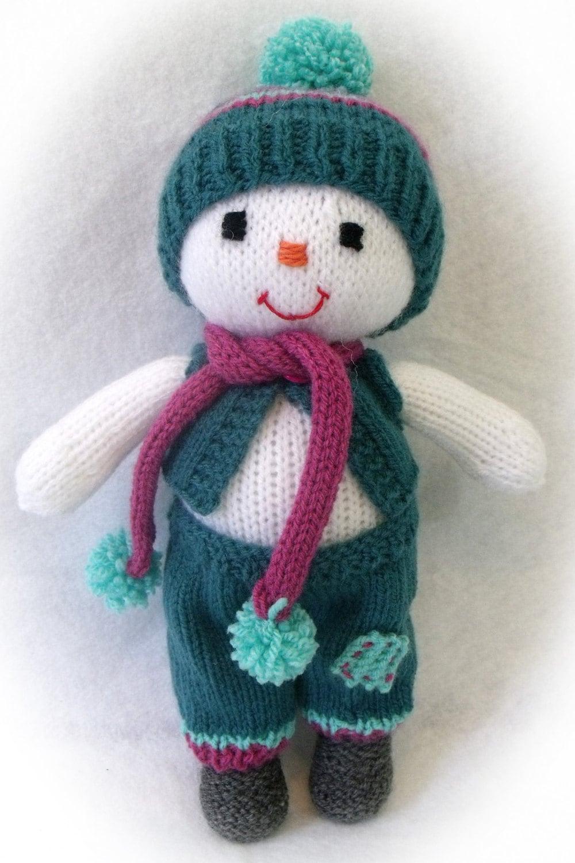 Toy doll knitting pattern. Cuties. Winter dolls.Snowman girl ...
