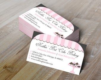 Bakery business card etsy diy do it yourself bakery business card reheart Gallery