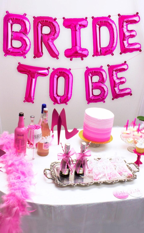 Bridal shower decorations mylar letters balloon kit bride for Bachelorette decoration