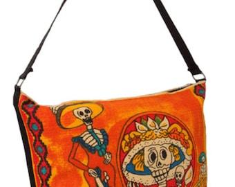 Dia de los Muertos skeleton purse