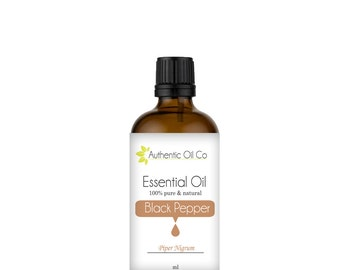 Black Pepper Essential Oil 100% Pure 10ml 50ml 100ml