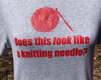 Crochet Tshirt - Not Knitting Crochet Saying - Gifts for Crocheters - Crochet Jokes - Funny Gift for Her - Crochet Gifts - Gift for Crafter