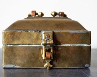 Indian Brass Metal Box Tin