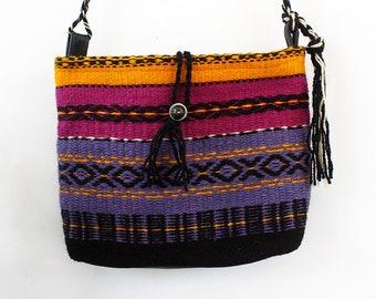Unique hippie/gypsy/free spirit colorful handmade handbag, handwoven boho crossbody bag, handmade boho purse