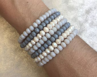 Crystal Stacking Bracelets